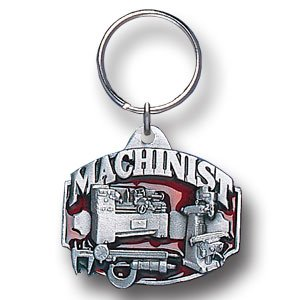 MACHINIST SCULPTED ENAMELED KEY RING KEY CHAIN