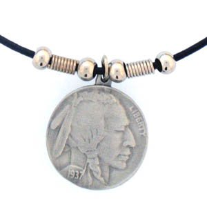 INDIAN HEAD NICKLE EARTH SPIRIT NECKLACE