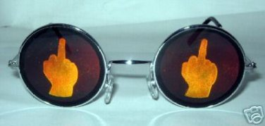 MIDDLE FINGER TEXAS HOLDEM WSOP HOLOGRAM SUNGLASSES