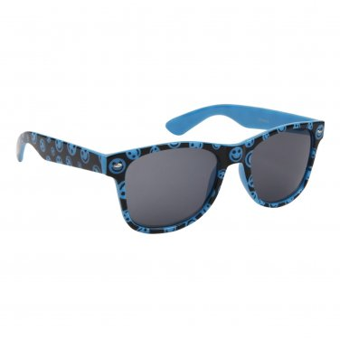 BLUE HAPPY FACE PLASTIC FRAME WAYFARER STYLE SUNGLASSES