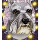 CRAZY ABOUT SCHNAUZERS!  MAGNETIC 3D BOOKMARK