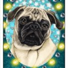 CRAZY ABOUT PUGS!  (FAWN AND TAN) MAGNETIC 3D BOOKMARK