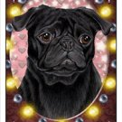 CRAZY ABOUT PUGS!  (BLACK) MAGNETIC 3D BOOKMARK
