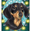 CRAZY ABOUT DAUCHSHAND!  (BLACK AND TAN) MAGNETIC 3D BOOKMARK