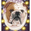 CRAZY ABOUT BULLDOGS! (TAN) MAGNETIC 3D BOOKMARK