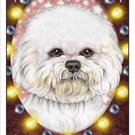 CRAZY ABOUT BICHONS!  MAGNETIC 3D BOOKMARK