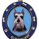 SCHNAUZER WITH CROPPED EARS SPINNING DOG KEY CHAIN