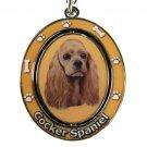 COCKER SPANIEL SPINNING DOG KEY CHAIN