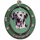 DALMATION SPINNING DOG KEY CHAIN