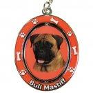 BULL MASTIFF SPINNING DOG KEY CHAIN