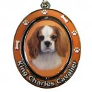 KING CHARLES CAVALIER SPINNING DOG KEY CHAIN