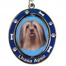 LHASA APSO SPINNING DOG KEY CHAIN