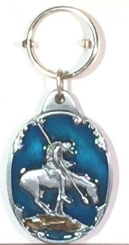 END OF TRAIL SCULPTED ENAMELED KEY RING KEY CHAIN