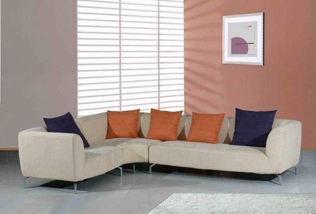 Tan Fabric Sectional