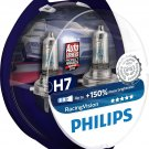 PHILIPS H7 headlight car bulbs RacingVision +150% 55W 12V PX26D box of 2