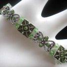 Peridot Green Swarovski stretch bracelet