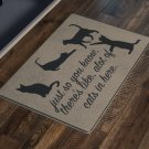 Cat Lover Doormat Gift Rug Housewarming Gift Welcome Mat Bunch Of Cats In Here Cat Decor Cat Gifts