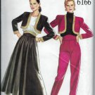 Simplicity New Look 6166 Skirt Bolero Jacket Tapered Trousers Pants  Sizes 8 to 18