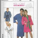 Vintage Simplicity 9319 Bathrobe Kimono Robe Unisex Long Short Length Teens Men Women Size XSM-MD