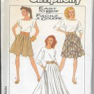 Simplicity 8504 Misses Skirt in Two lengths and Culottes Size 14 Vintage
