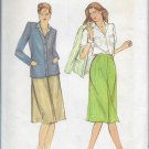 Vintage Butterick 3665 Jacket Skirt Blouse Three Piece Size 8 Factory Folded Uncut