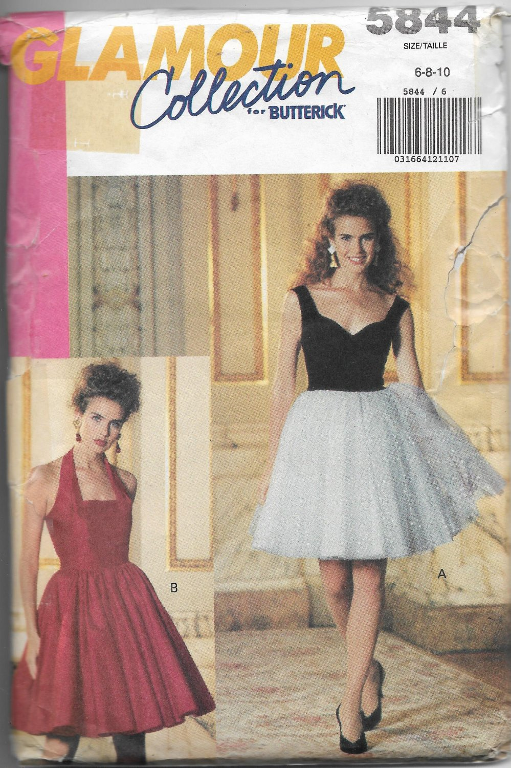 Butterick 5844 Glamour Collection Misses Dress Sizes 6-8-10 Variation Styles
