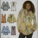 Simplicity 3786 Tops With Fronts and Sleeve Variations Sizes 6 to 14  Small to Medium Fit