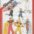 Simplicity 5299 Costumes Space Men Women Unisex Original Pattern