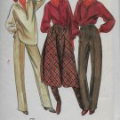 Vintage Butterick 6327 Women Blouse Skirt Dress Pants Size 8 Sewing Pattern Uncut