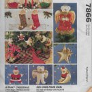McCalls Crafts 7866 Christmas Bears, Tree Ornaments Decorations Stockings Stars
