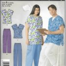 Simplicity 2142 Easy Women Men Scrub Top and Pants Easy Sewing Pattern