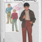 Vintage Simplicity 7064 Dated 1985 Boys Shirt, Pull on Pants, Unlined Vest Size 12