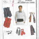 Burda 3403 Fitted Vest and Accessories, Sizes 36 to 50,Vest, 3 type Ties, Cummberbund
