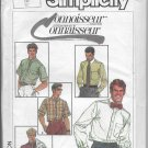 Simplicity 7015 Men Dress Shirts Size 42 Connoisseur Collection Vintage Dated 1985