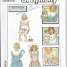 Vintage Simplicity 8594 Girls Dress Party Daisy Kingdom Size 3 Uncut Dated 1988