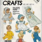 Vintage McCalls Crafts Doll Clothes Wardrobe Collection Variations Sizes S/M/L/