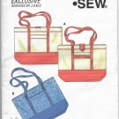 Kwik Sew Two Styles Tote Bags Two Designs New Factory Folded Sewing Pattern
