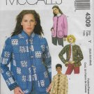 McCalls 4309 Jackets Lined Variations on Style Choice all Box shape Sizes XS,S,M