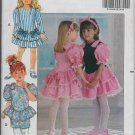 Girls Dresses Special Occasions McCalls 5232 Easy Sew Styles Ruffle Bottom Sizes 2,3,4