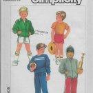 Simplicity 6962 Boys Sports Wear Tops Jackets Pants Shorts Sizes 4/5/6