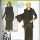 Women Separates Suit Jacket Top Skirt and Scarf Simplicity 4371 Sleek & Chic