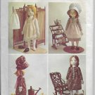 Vintage Simplicity 6006 Holly Hobby Stuffed Rag Doll and Wardrobe