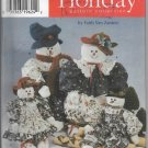 Simplicity 7399 Holiday Christmas Snowmen Gift Giving Decor, Four Stuffed Dolls Size 22 33 inches