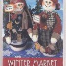 Snowmen Plush Felt Winter Market Mr & Mrs 30 inches Soft Doll Felt Hats Scarfs Jacket