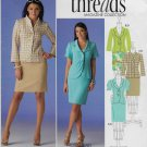Simplicity 2452 Sizes US 14 to 22 Slim Line Skirt Jacket Front Variations Causal Dress Office Wear