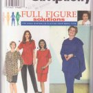 Simplicity Full Figure 7343 Sizes 18 20 24 Women Tunic Skirt Pants Wrap Slimming Style