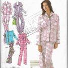 Sleepwear Pajamas Simplicity 3571 Sizes 10 12 14 16 18 Lounge PJs Women Easy Sew Pattern
