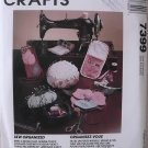 McCalls Crafts 7399 Sew Organizer Sewing Pouch, Armchair Caddy, Assorted Pin cushion, Busy Bag Tote