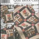 Simplicity 9371 Home Decor Quilt Blocks 48 inches square, Pillow Shams Schoolhouse Sunbonnet
