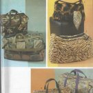 Simplicity 4582, Six Totes different style bags, Travel Bags, Luggage, Small  Medium Large Sizes
